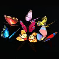50pc Family 3D three-dimensional butterfly wall stickers with a safety pin & Magnet, dress, curtain and Fridge Decoration