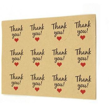 Kraft Paper Tags Stickers For Wedding Party