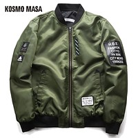 Military Jacket Coat For Men Regular Cotton Winter Air Force Pilot Man Thick Space Hooded Jackets