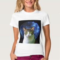 SPACE CAT t-shirts. funny cats tees