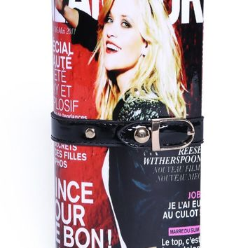 Posh Girl Red Glamour Magazine Clutch