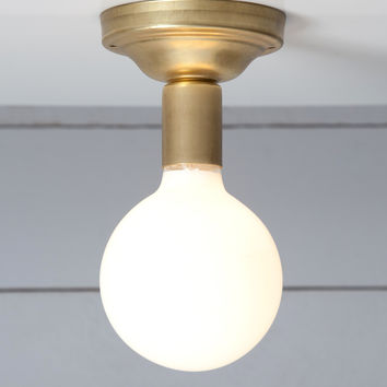 Brass Ceiling Light - Bare Bulb