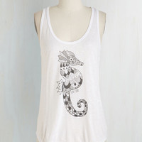 Nautical Mid-length Tank top (2 thick straps) Coastline Equine Top by ModCloth