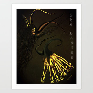 She Danced Art Print by    Amy Anderson