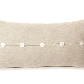 Shop Linen Pillows With Buttons On Wanelo Awesome Decorative Pillows With Buttons