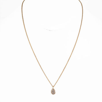 Diamond Drop Pendent Necklace