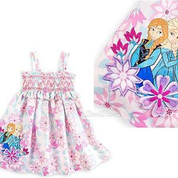 Licensed cool NEW Disney Store Frozen Princess ANNA ELSA Floral Sundress or Swimsuit Coverup