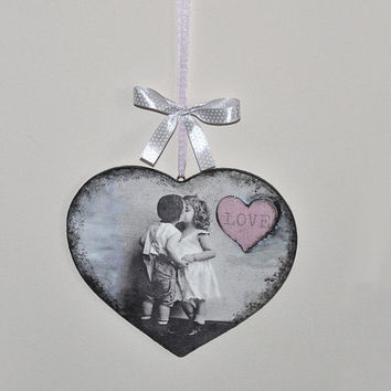 Heart hanging decoration, Valentine's day gift, wall hanging, love heart, wall decoration, romantic home, Valentine heart hanging decoration