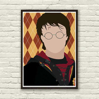 HARRY POTTER Minimal Movie Print 8x11in, Print Art Original