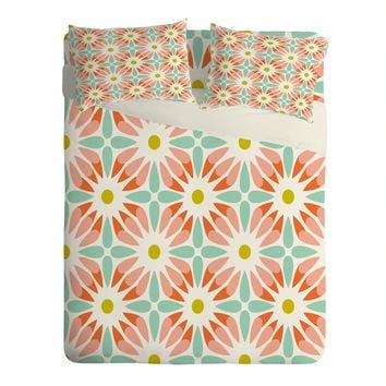 Heather Dutton Crazy Daisy Sorbet Sheet Set Lightweight