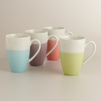 Dipped Two-Tone Mugs, Set of 4 - World Market