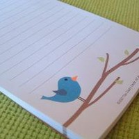 The Bird and The Bee Magnetic Notepad by TheZestyDesk on Etsy