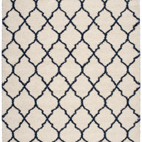 Nourison Amore Ivory Blue Area Rug AMOR2 IVB (Rectangle)