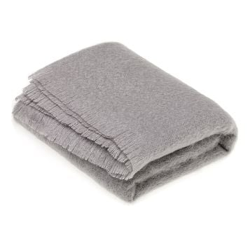 Luxury Mohair Slate Grey Throw Blanket