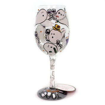 Tabletop A TOAST FROM THE GHOST Glass Lolita Wine Glass Halloween 6000214