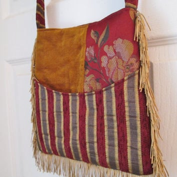 Bohemian Gypsy Hippie Tapestry Fringe Purse