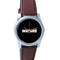 Wasted Demotivational Quote Wrist Watch