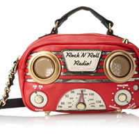 Betsey Johnson Tune-In Working Radio Cross-Body Bag