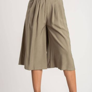Angeline Olive Culottes