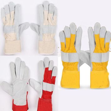 2017 New Leather stitching long welding gloves tig welding gloves mig welding gloves safety gloves 3 color Sale at low prices