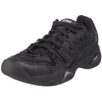 Prince Women`s T22 Tennis Shoe,Black/Black,7 M US