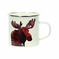 Holiday Enamel Mug - Moose