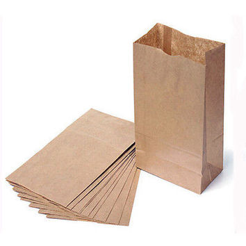 10/20x Small Kraft Paper Gift Bags Vintage Wedding Treat Brown Paper Bags 3C