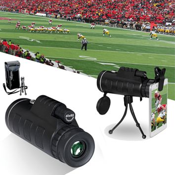 Cool Zoomable 60X Monocle Binocular with Smart Phone attachment
