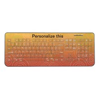 Personalize golden brown color, monogram wireless keyboard