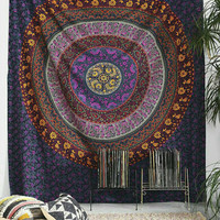 Large Size Dorm Indian Hand Loom mandala Tapestry Bed Spread Bed Sheet Bohemian Wall Hanging Hippie Tapestry Coverlet Big Picnic Beach Sheet