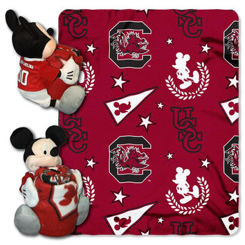 South Carolina Gamecocks NCAA Mickey Mouse with Throw Combo