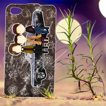 TEAM FREE WILL , Supernatural, Sam and Dean Winchester - for iPhone 4/4s, iPhone 5/5s/5C, Samsung S3 i9300, Samsung S4 i9500 Hard Case