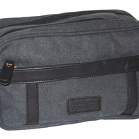 Vintage Gear 2 Zip Travel Kit, Black, Travel Sets