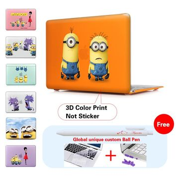 Despicable Me Minions Print Laptop Sleeve For Macbook air 12 13.3 11.6 Case Hard Cover Mac Book Pro 13 15 inch Retina Display