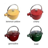 Round Cast Iron Teapot By Staub Of France - Staub - Home Furnishings - Unica Home