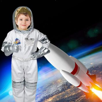 Children's Cool Astronaut Costume Role Play Holiday Costume Halloween Carnival Cosplay Suit Boys Stage Show Rocket Man