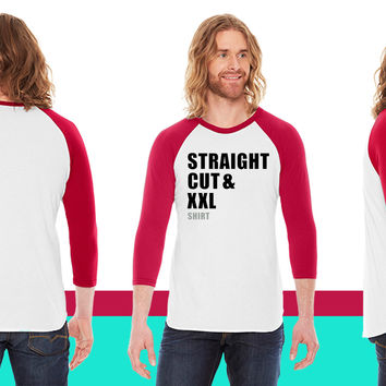 straight cut xxl shirt American Apparel Unisex 3/4 Sleeve T-Shirt