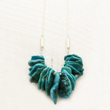 Sonoran Nacozari Turquoise Statement Necklace in by byjodi on Etsy