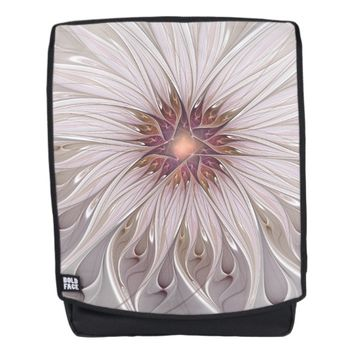 Floral Fantasy, Abstract Modern Pastel Flower Backpack