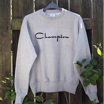 champion HOT SALE Embroidery LOGO sleeve sweater