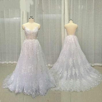 Wedding Dresses Backless Lace Wedding Gowns Bridal Gowns Beach Bridal Dress