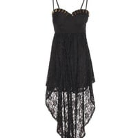 Reverse - Lace Stud Dress | Women's Fashion Shopping Online | DOLL BOUTIQUE