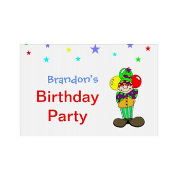 Circus Theme Birthday Party Sign
