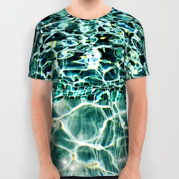 Swimmingly All Over Print Shirt by Yuval Ozery