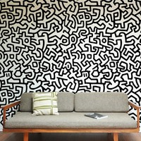 Blik Wall Decal - Keith Haring ~ Pattern Wall Tiles