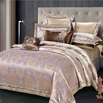 Luxury Bedding Set Cotton Comfortable  Duvet Cover Bed Sheet Palace