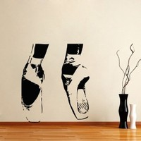 Housewares Vinyl Decal Ballerina Ballet Home Wall Art Decor Removable Stylish Sticker Mural Unique Design for Any Room Dance Studio