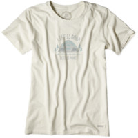 Women's Less Is More Tent Crusher Tee|Life is good
