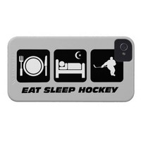 eat sleep hockey iPhone 4 cover from Zazzle.com