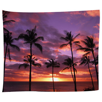 Hawaiian Sunset Tapestry